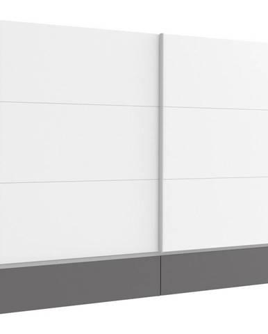 Ti`me SKRIŇA S POS. DVER. – HOR.VED., sivá, biela, 270/211/61 cm - sivá, biela