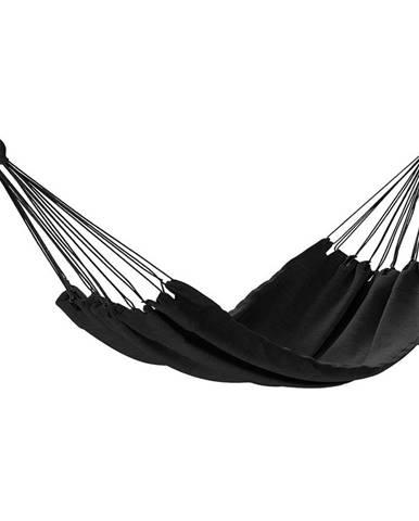 AmeliaHome Hojdacie závesné ležadlo Colada čierna, 240 x 80 cm
