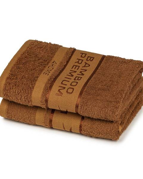 4Home 4Home Bamboo Premium uterák hnedá, 50 x 100 , sada 2 ks