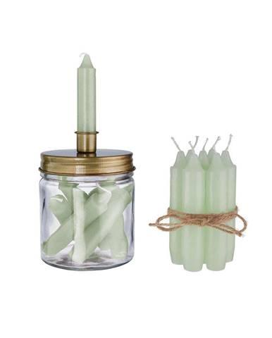LITTLE LIGHT Set svietniku a šalviových sviečok