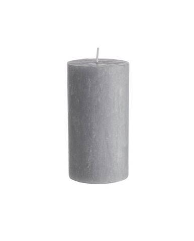 RUSTIC Sviečka 13 cm - šedá
