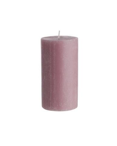 RUSTIC Sviečka 13 cm - sv. ružová