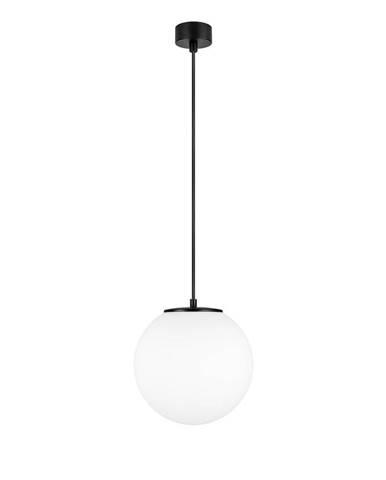 Biele závesné svietidlo s objímkou v čiernej farbe Sotto Luce TSUKI M
