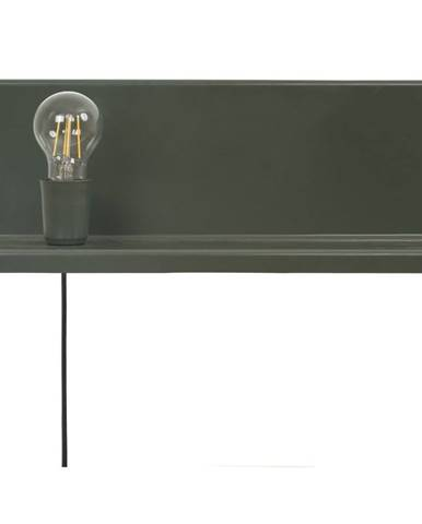 Zelené nástenné svietidlo s poličkou Homemania Decor Shelfie2
