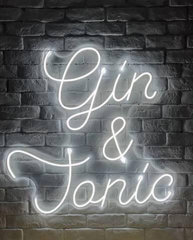 Biela nástenná svietiaca dekorácia Candy Shock Gin and Tonic