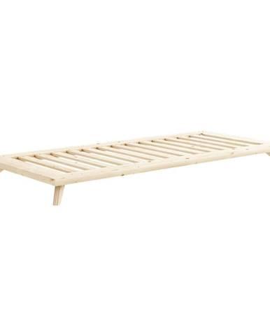 Jednolôžková posteľ z masívneho borovicového dreva Karup Design Senza, 90 x 200 cm
