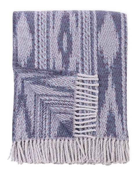 Euromant Modrý pléd s podielom bavlny Euromant Zanzibar, 140 x 180 cm