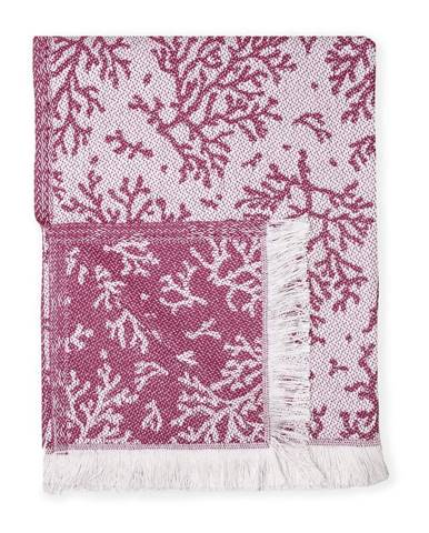 Ružový pléd s podielom bavlny Euromant Summer Coral, 140 x 180 cm