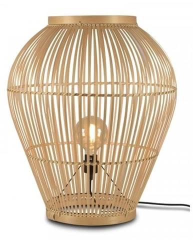 Stojacia jutová lampa Good&Mojo Tuvalu, ⌀60cm