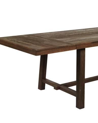 Tmavohnedá dubová prídavná doska jedálenského stola Rowico Brooklyn
