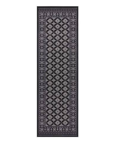 Čierny koberec Nouristan Sao Buchara, 80 x 250 cm