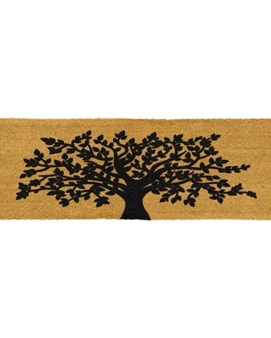 Rohožka z prírodného kokosového vlákna Artsy Doormats Tree Of Life, 120 x 40 cm