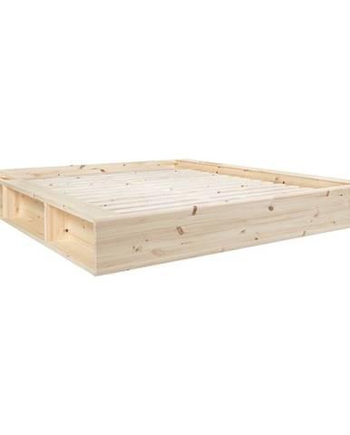 Dvojlôžková posteľ z masívneho dreva s úložným priestorom Karup Design Ziggy, 160 x200 cm