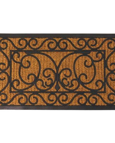 Gumová obdĺžníková rohožka s kokosovým vláknom Esschert Design Ornamental, 44,5x74,5cm