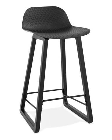 Čierna barová stolička Kokoon Miky, výška sedu 69 cm