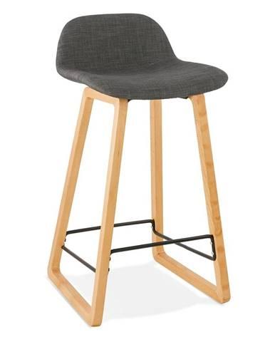 Čierna stolička Kokoon Trapu Mini, výška sedu 72 cm