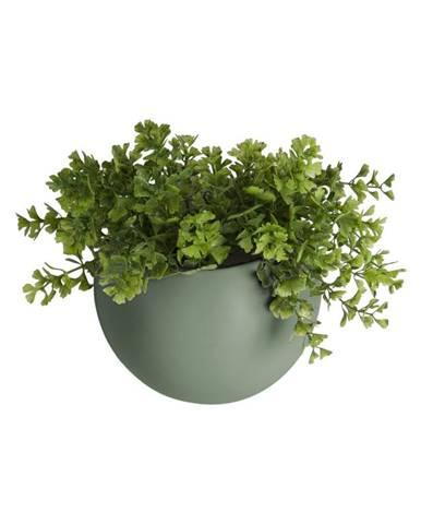 Matne zelený nástenný keramický kvetináč PT LIVING Globe
