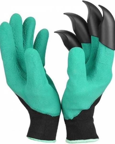 Kinekus Rukavice záhradné latex. s plastovými pazúrmi zelené