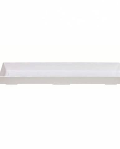Miska pod truhlík 40, biela, 34 cm