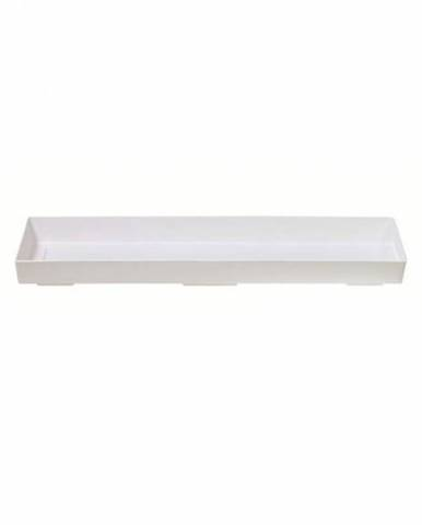 Miska pod truhlík 50, biela, 44 cm