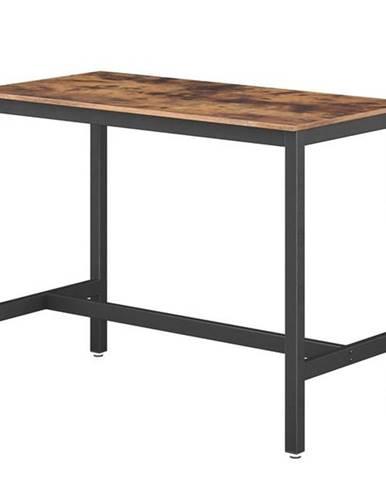 Barový stôl LEKSA čierna/hnedá