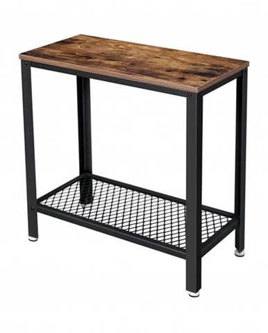 Prístavný stolík MIKKE čierna/hnedá