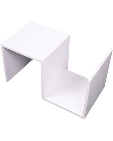 Tempo Kondela Príručný stolík, biela, VALMAR