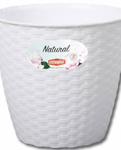 Obal na květník NATURAL plastový 19x18cm bílý