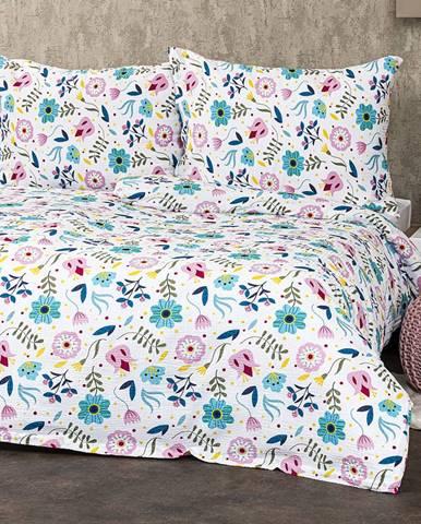 4Home Krepové obliečky Flowers, 160 x 200 cm, 70 x 80 cm