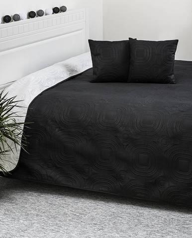4Home Prehoz na posteľ Doubleface biela/čierna, 220 x 240 cm, 40 x 40 cm