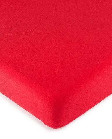 4Home jersey prestieradlo červená, 160 x 200 cm