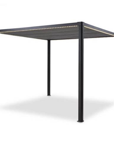 Blumfeldt Pantheon RemoteShade Ambient, altánok, motorizovaná strecha, LED svetlo