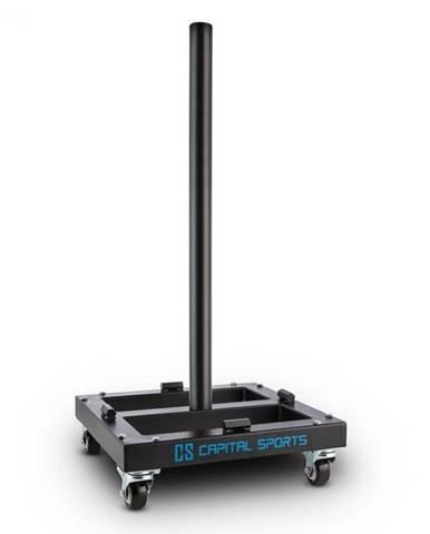 Capital Sports Compristar, max. 300 kg, stojan na naloženie kotúčových závaží, vozík, kolieska