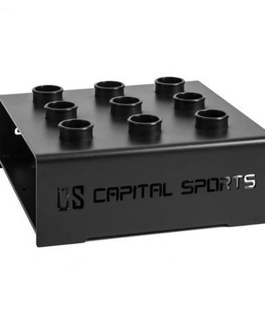 Capital Sports Mountar, čierny, oceľový stojan pre posilňovacie tyče