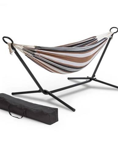 Blumfeldt Sri Lanka Swing, hojdacia sieť, oceľový rám, nosnosť max. 160 kg, pruhovaná