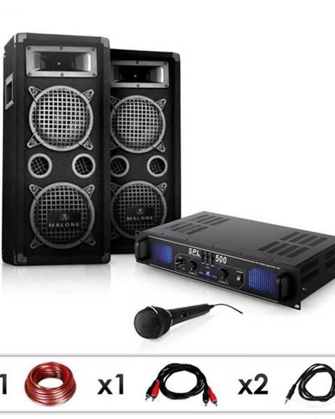 "Electronic-Star Electronic-Star DJ PA set ""DJ–25"", zosilňovač, PA repro, mikrofon, 1600W"