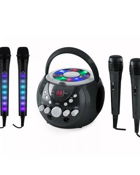 Auna Auna SingSing čierna + Dazzl Mic Set karaoke zariadenie, mikrofón, LED osvetlenie