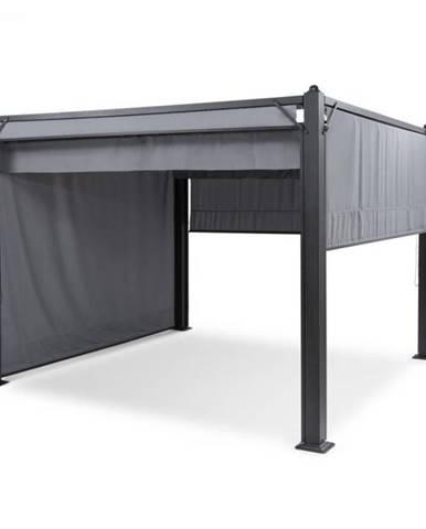 Blumfeldt Pantheon Cortina, altánok so strechou, 3 x 3 m, 4 bočné časti, šedý