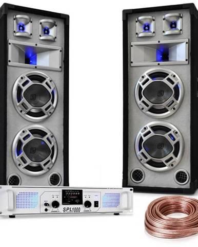 "Electronic-Star ""White Noise"", DJ PA set, 2 x 500W zosilňovač, 600W reproduktory, reproduktorový kábel"