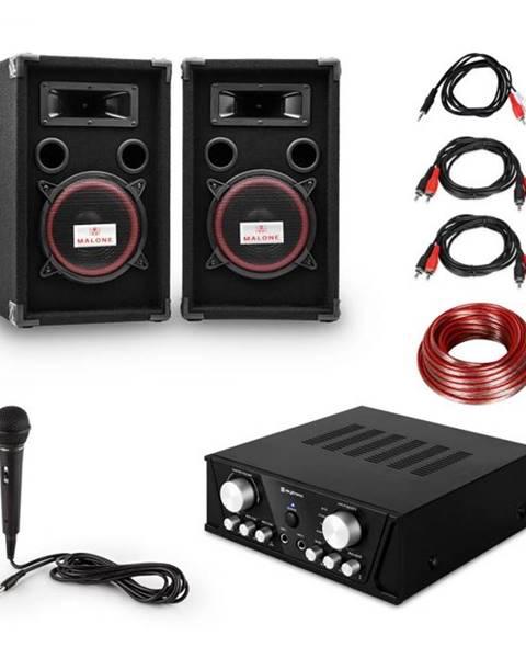 Electronic-Star Electronic-Star Easy DJ Set Black, PA systém, PA zosilňovač, 2 x reproduktor, mikrofón, čierny