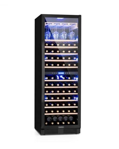 Klarstein Klarstein Vinovilla Onyx Grande Duo, vinotéka, 425 l, 165 fliaš, 3 farby, čierna