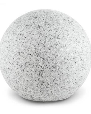 Lightcraft Shinestone XL, záhradné svietidlo, guľovité, 50 cm, vzhľad kameňa