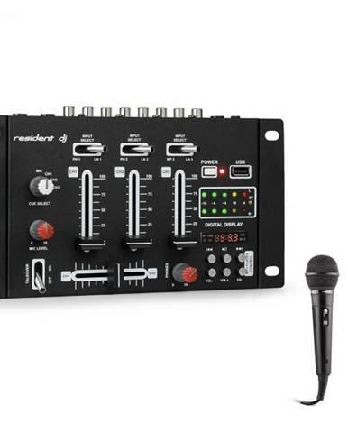 Resident DJ DJ-21 BT, mixážny pult, bluetooth, USB + mikrofón, čierny