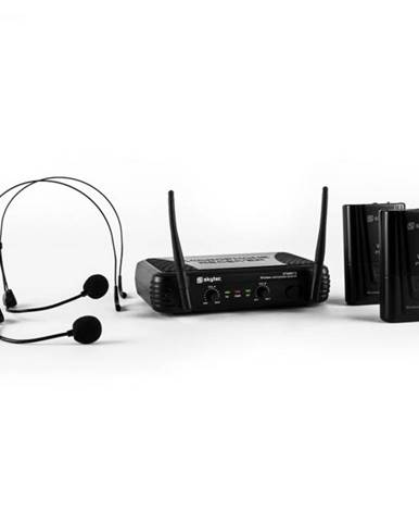 Skytec STWM712H, mikro VHF set bezdrôtových mikrofónov, 2 x headset/náhlavná súprava