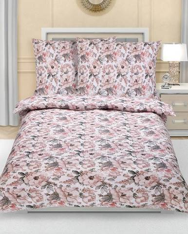 Bellatex Krepové obliečky Sivá ruža, 140 x 200 cm, 70 x 90 cm