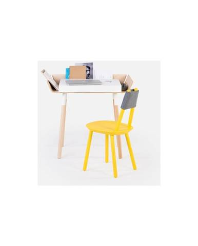Biely písací stôl s 1 zásuvkou EMKO My Writing Desk