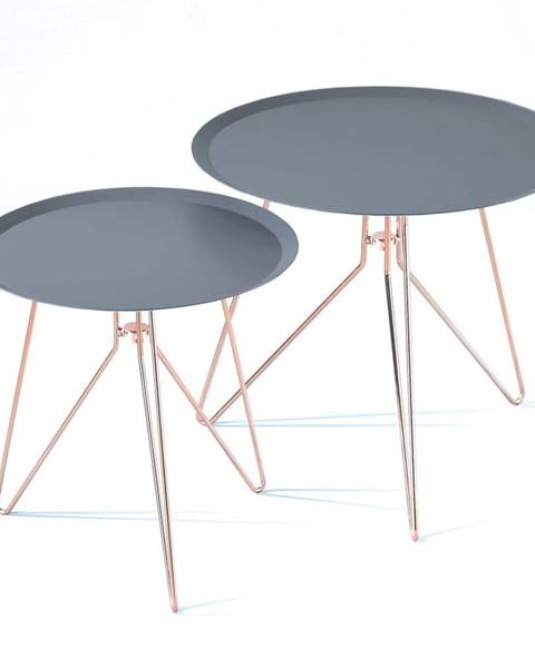 Tomasucci Súprava 2 modrých odkladacích stolíkov Tomasucci Jolli