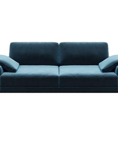 Modrá zamatová pohovka MESONICA Musso, 173 cm