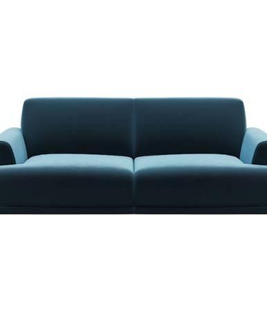 Modrá zamatová pohovka MESONICA Puzzo, 170 cm