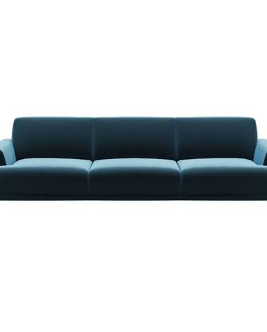 Modrá zamatová pohovka MESONICA Puzzo, 240 cm